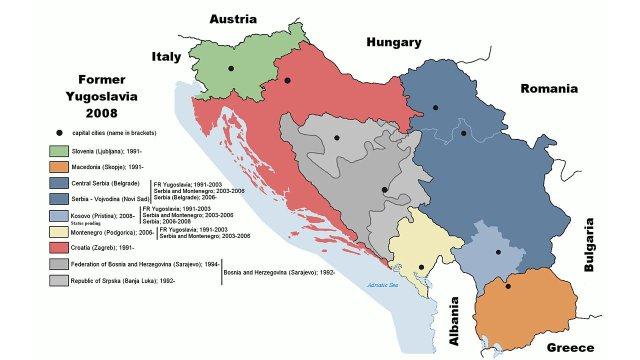 Yugoslav map